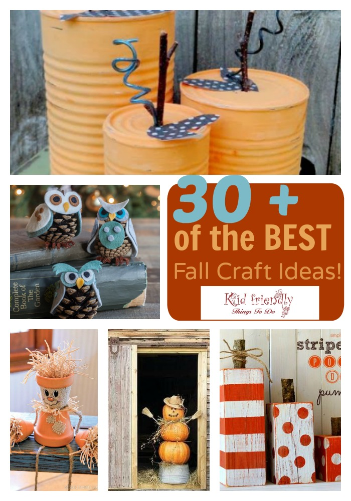 The Best DIY Kid Friendly Fun Fall Craft & Decorating Ideas