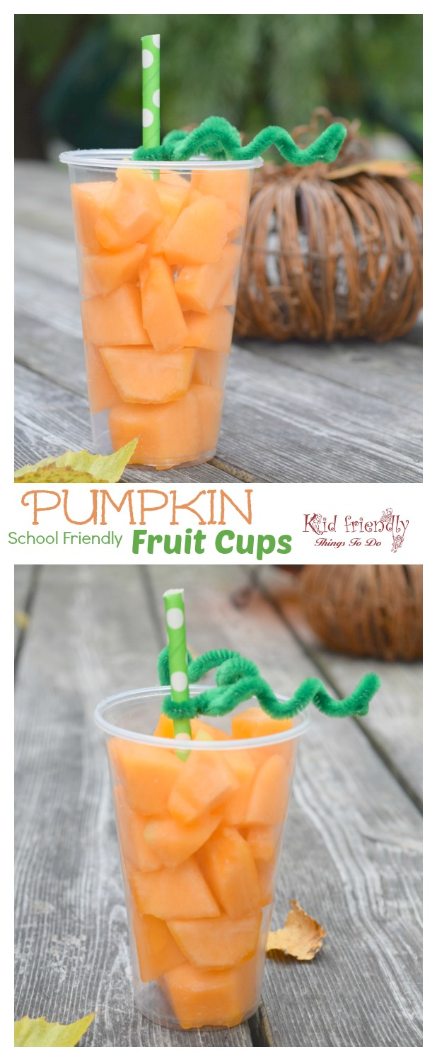 Fun and Easy Pumpkin Fruit Cups For a Healthy Kids Fall & Halloween Treat - www.kidfriendlythingstodo.com