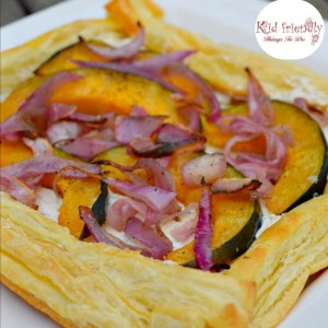 Herbed Cheese & Acorn Squash Puff Pastry Appetizer Recipe - perfect for Thanksgiving, Christmas, New Years and any other holiday or a family meal! www.kidfriendlythingstodo.com