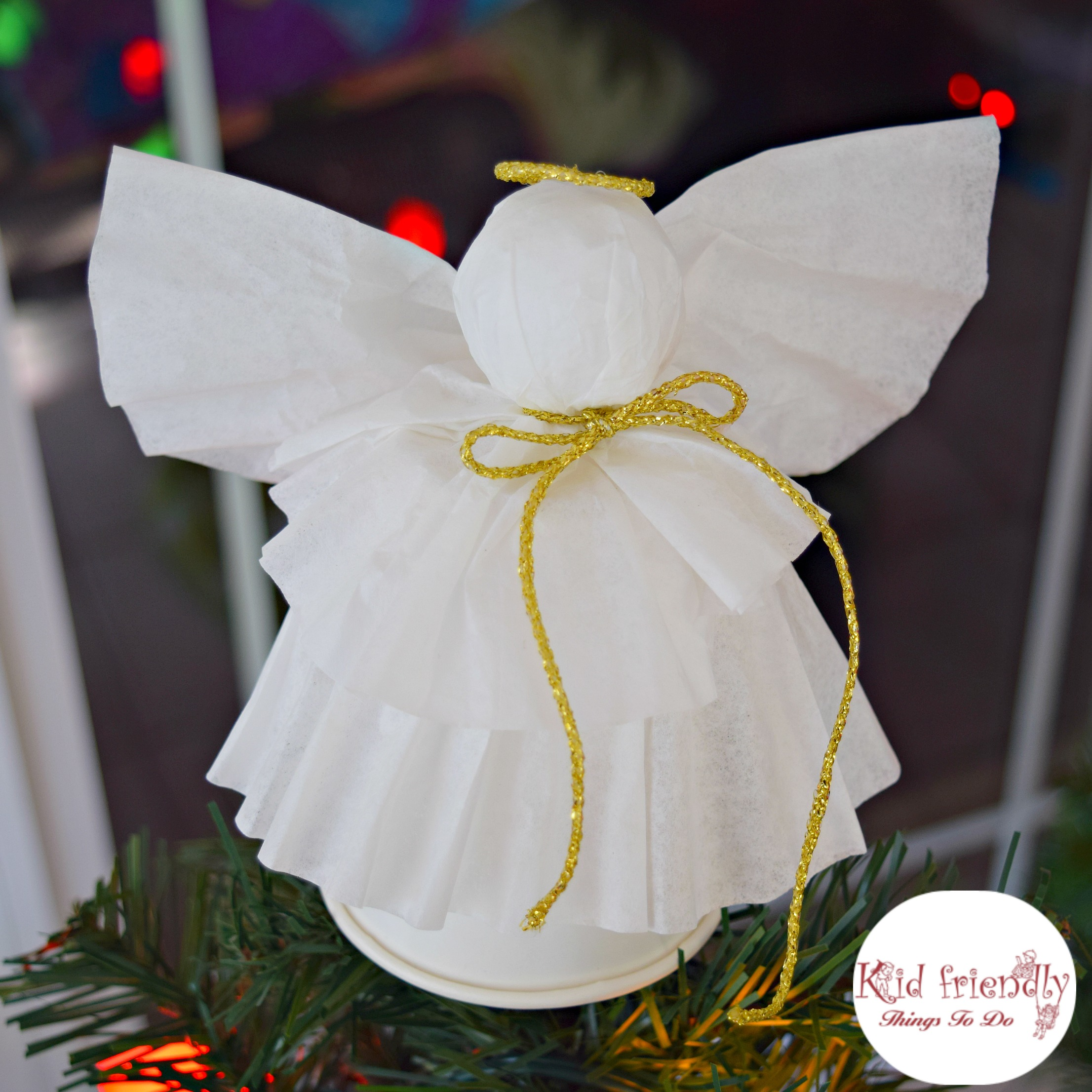 A Simple Coffee Filter Angel Christmas Tree Topper Craft