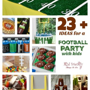 Over 23 Ideas for a fun Football Party With Kids - Decorations, Recipes, Games, & More! - fun and easy ideas. www.kidfriendlythingstodo.com