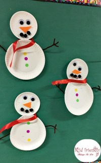 Easy Paper Plate Snowman Craft for Kids to Make