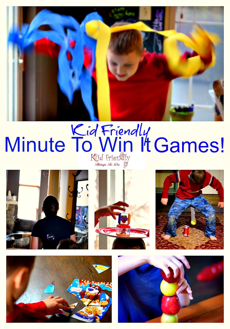 More Awesome Kid Friendly Minute To Win It Party Games