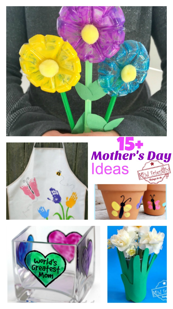 Over 15 mother 39 s day crafts that kids can make for gifts for Crafts to make for mom
