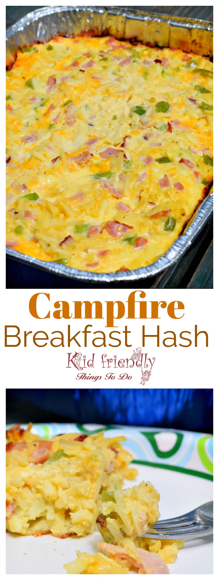 Easy Make Ahead Western Skillet Campfire Breakfast Recipe - Cowboy Breakfast Western Skillet recipe for the camping family breakfast - www.kidfriendlythingstodo.com