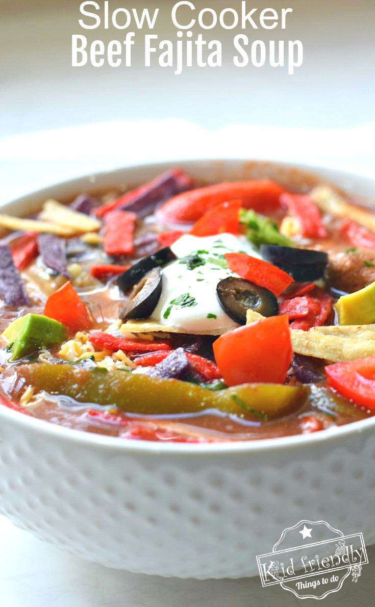 Easy and delicious slow cooker beef fajita soup recipe for Delicious slow cooker soup recipes