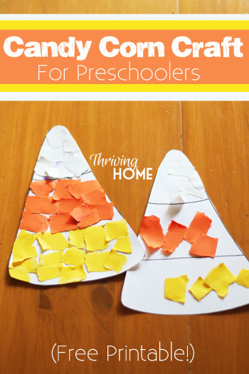 Three Fun Candy Corn Crafts for the Preschool Class