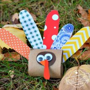 Make a Cute Little Turkey out of a Toilet Paper Tube – Thanksgiving Craft for Kids