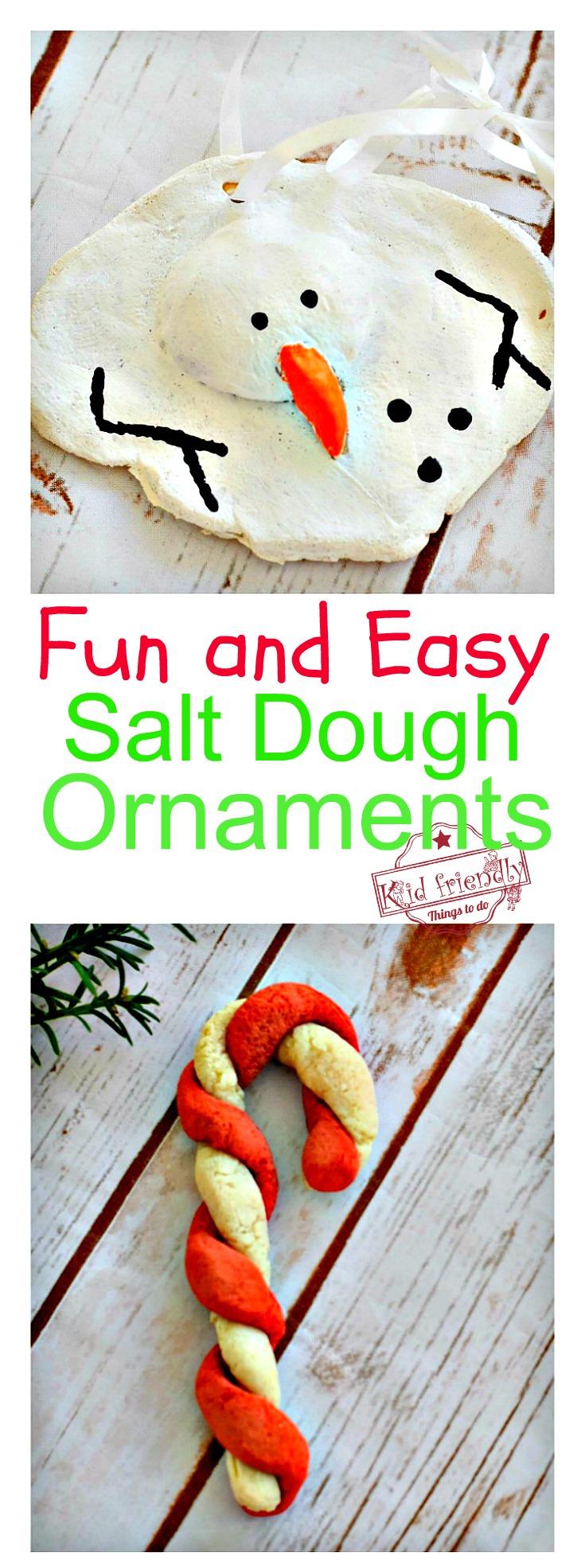 A DIY Melted Snowman and Candy Cane Salt Dough Ornament ...