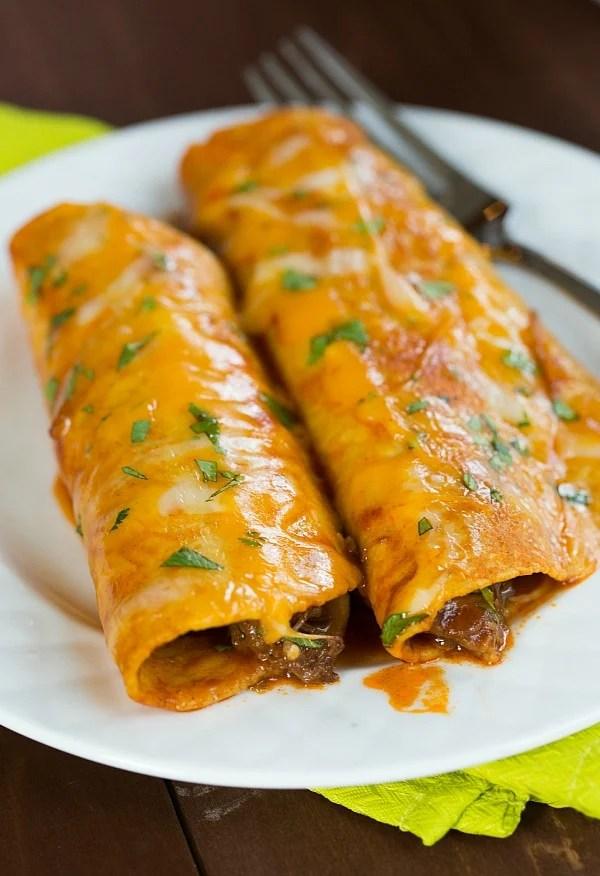 Veggie Black Enchiladas And Bean