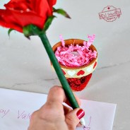 Easy DIY Flower Pen and Terra Cotta Pot Craft for a Valentine's Day Gift