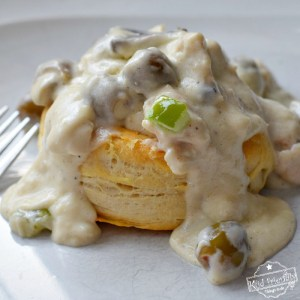 An Easy and Delicious Recipe for Chicken Ala King Over Biscuits - This recipe comes from an old church cookbook and is absolutely AMAZING! www.kidfriendlythingstodo.com