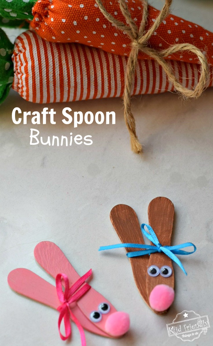 This bunny craft is an Easy Easter Craft To Make with the kids . It's perfect for Easter, spring or summer crafts! Great for preschoolers, and kids of all ages. www.kidfriendlythingstodo.com