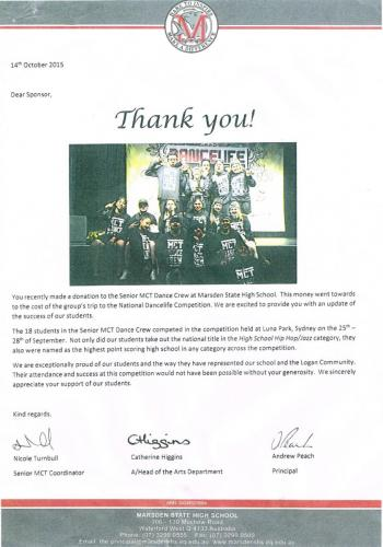 Certificate of appreciation - Thank You