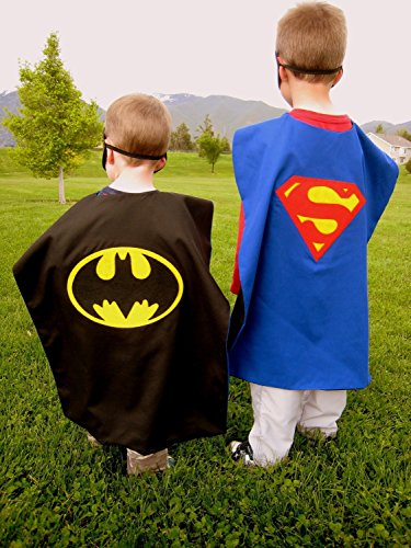 Superhero Cape and Mask Costumes For Kids SET Capes Masks Stickers and Tattoos  Kid Inventor