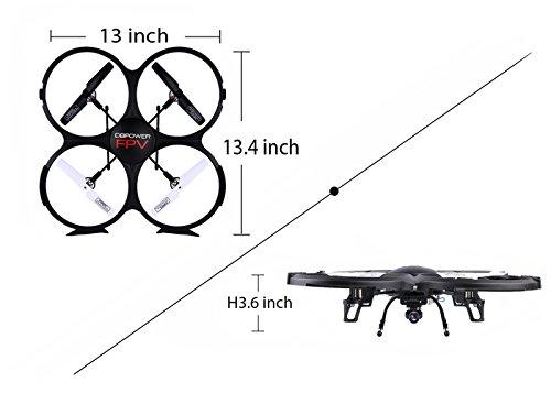 DBPOWER UDI U818A WiFi FPV Quadcopter Drone Headless Mode