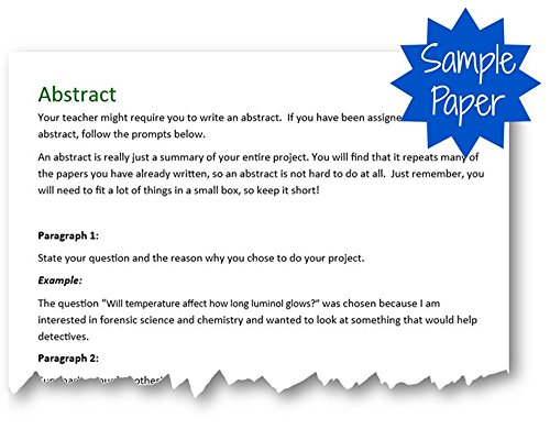 abstract for science fair