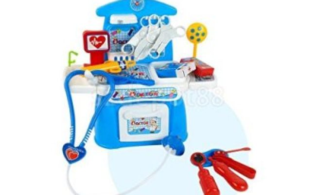 Kids Pretend Play Blue Doctor Toys Medical Kit Surgical