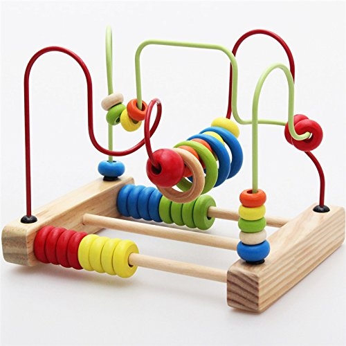 Montessori Baby Toys Classic Large Wire Beads Maze Wooden