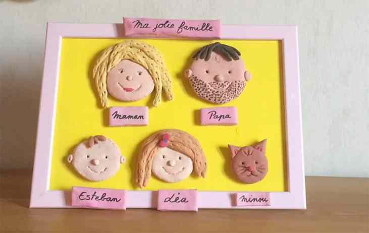 babysitting le mercredi : un portrait de famille en pâte à sel