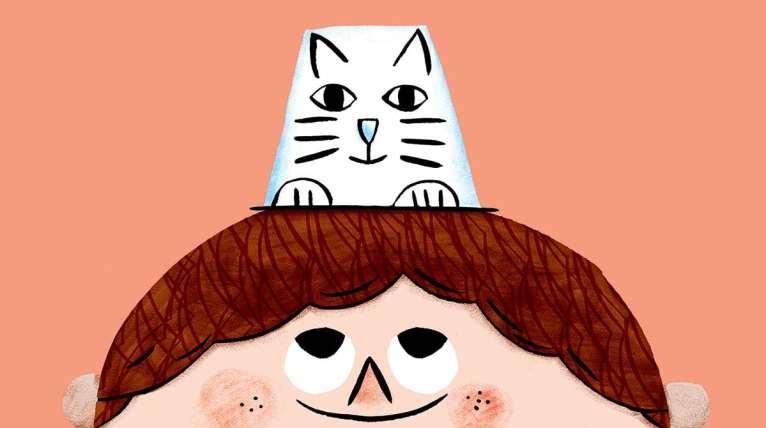 image sous forme de dessin pour illustrer le jeu chat-pot