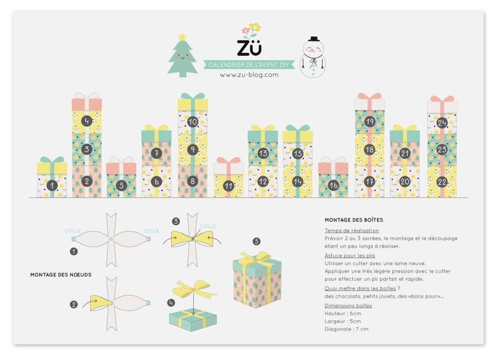 Plan de la montagne de cadeaux Calendrier de l'avent 2020