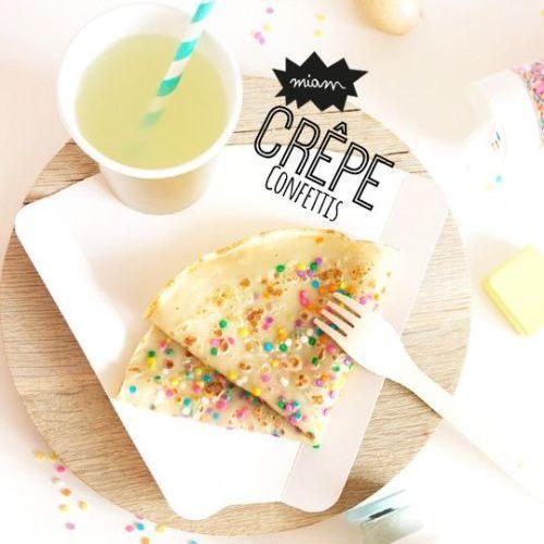 Chandeleur: recette de crêpes pour enfants avec des confféttis alimentaires