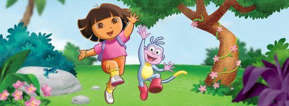 dessins animés éducatifs  enfants : Dora l'éxploratrice et babouche qui sautent