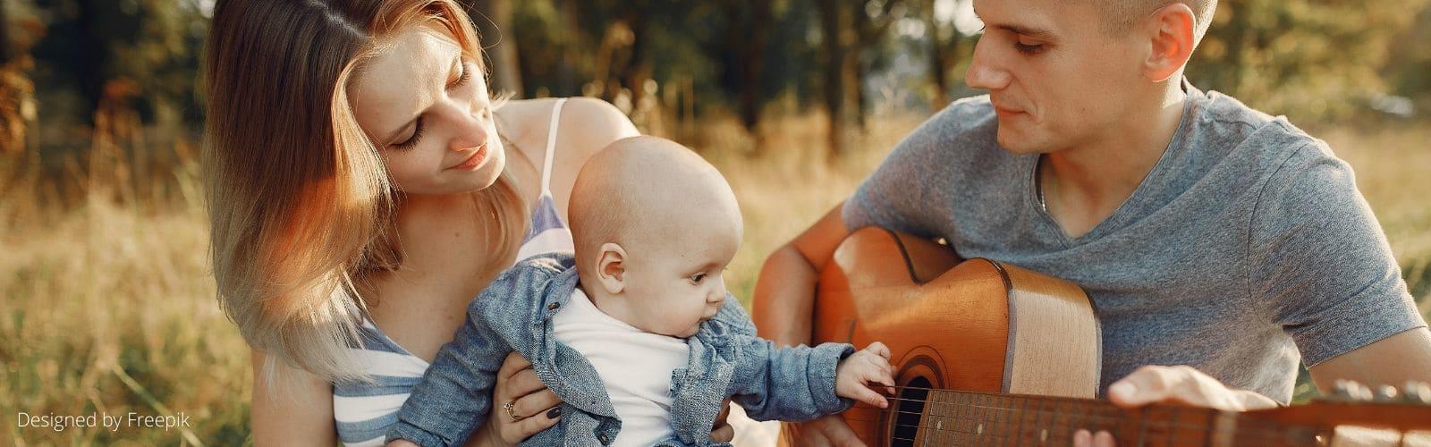 Éveil musical bébé