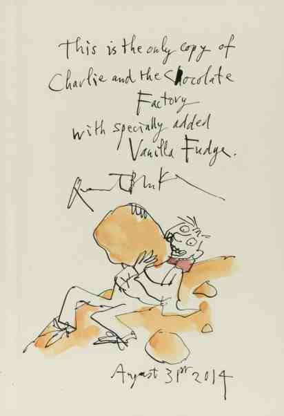 Sotheby Auction: 'Charlie And The Chocolate Factory' Chapter about Vanilla Fudge