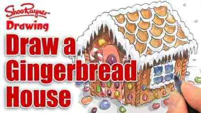 How to Draw a Gingerbread House for Christmas