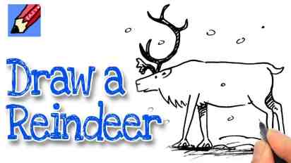 How to Draw a Reindeer Real Easy