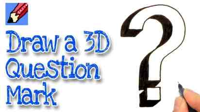 How to Draw a 3D Question Mark Real Easy
