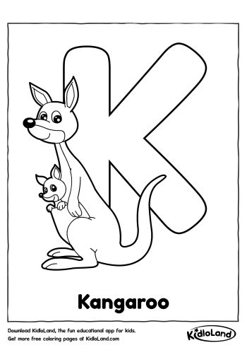 Download Free Alphabet Coloring K and educational activity