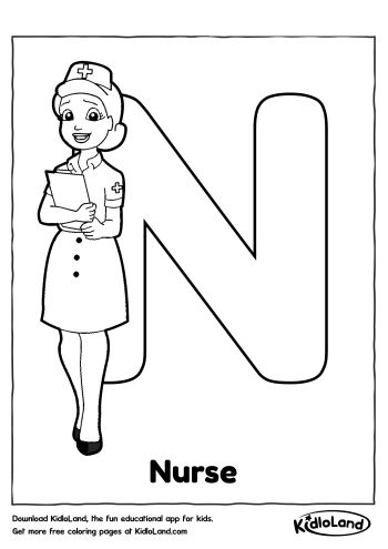 Download Free Alphabet Coloring N and educational activity
