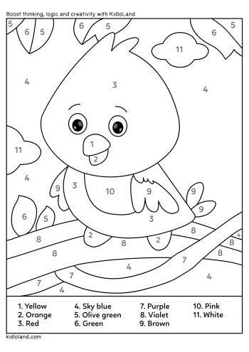 Download Free Color By Number 4 and educational activity