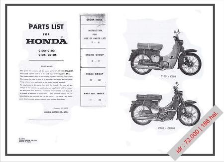 Download Buku Manual Honda S90 n Part's List C110,C105