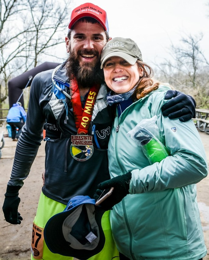 Clint with mom after 40 miler