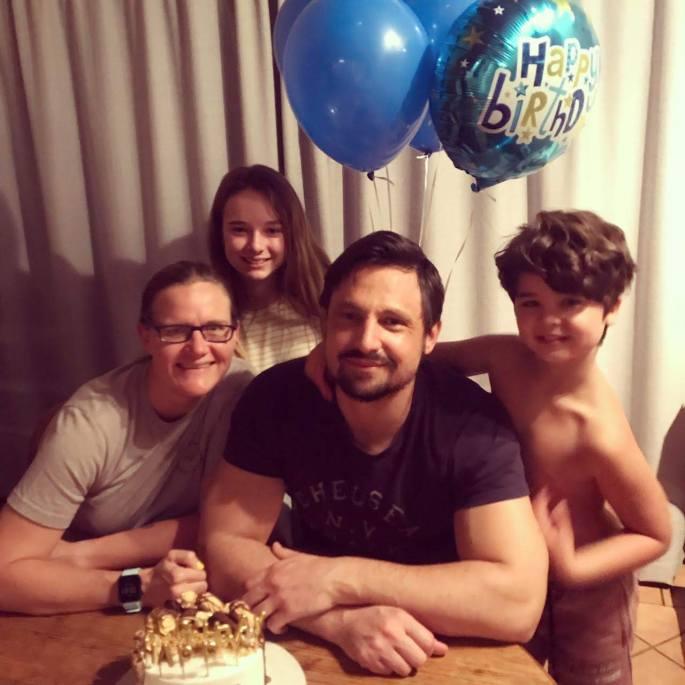 Celebrating Jason's birthday