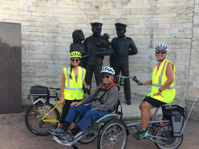 Lone Star Wheelers Ride Post Surgery (Shannon on left)