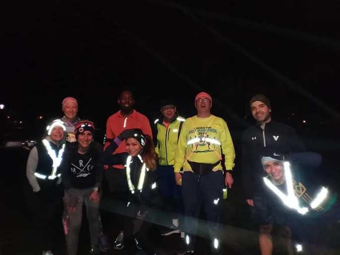 Fueled by Doughnuts Running Club pre-dawn run 2019