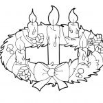 Printable Advent Wreath And Candles Coloring Page for kids