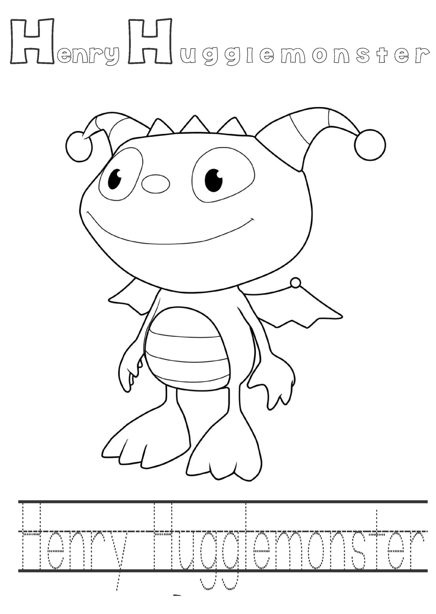 Henry Hugglemoster Printable Coloring Pages