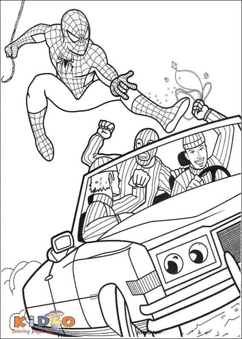 Superhero coloring pages spiderman