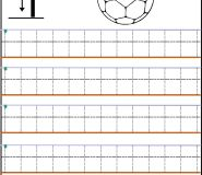 Number Tracing Worksheets 1 number print out