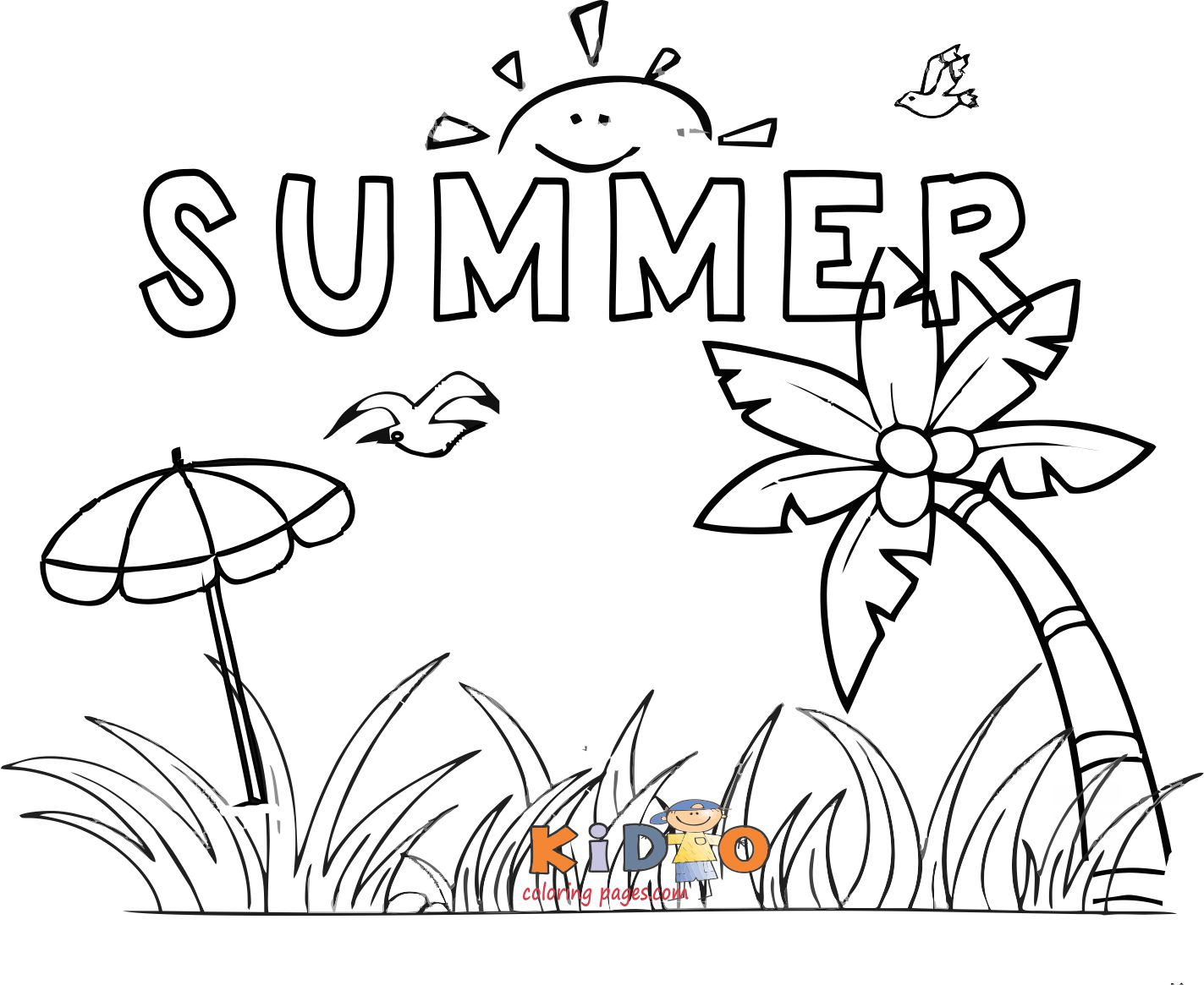 Summer holidays coloring pages printable - Kids Coloring Pages