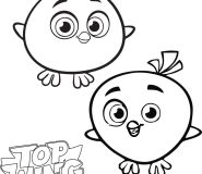 Chirp and Cheep Top Wing coloring in pages to print out