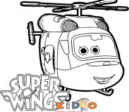 Super Wings dizzy free coloring page