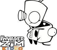 Zim Invader Coloring Page Color Online