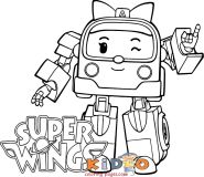 super wings Zoey coloring pages printable